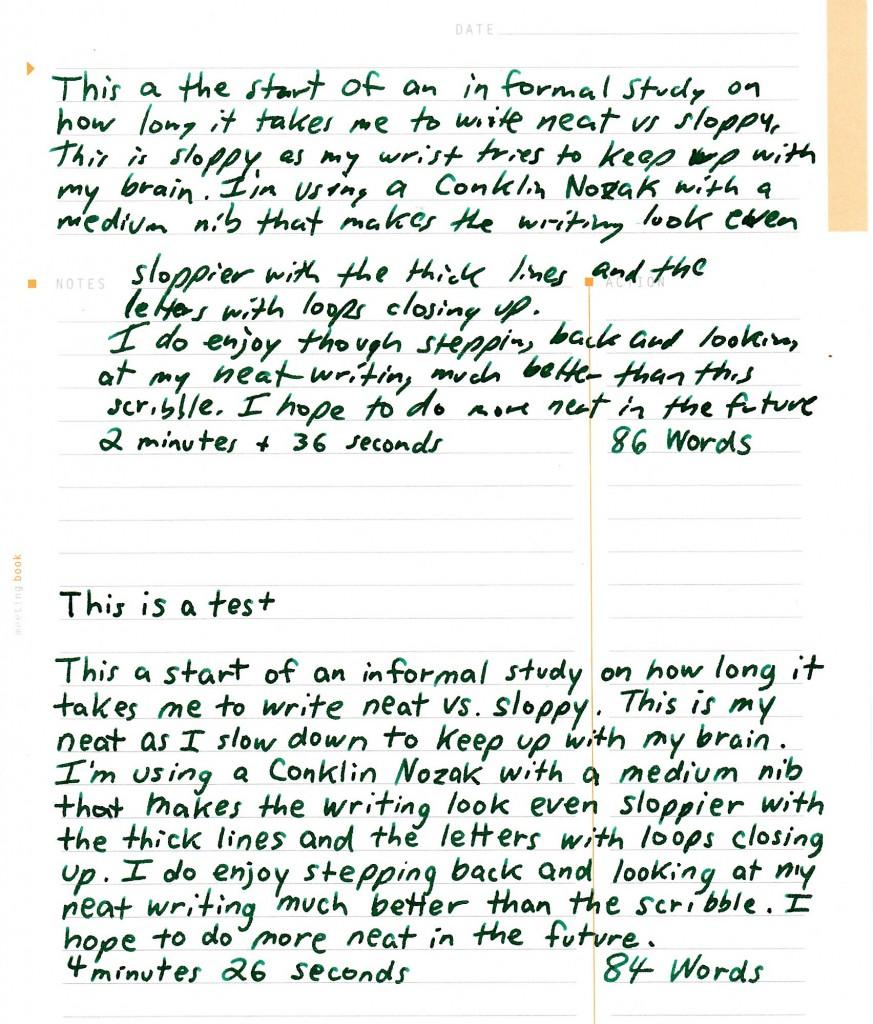 Sloppy vs Neat Writing