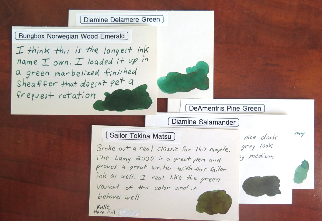 Bung Box Norwegian Wood Emerald Ink Review - My Pen Needs